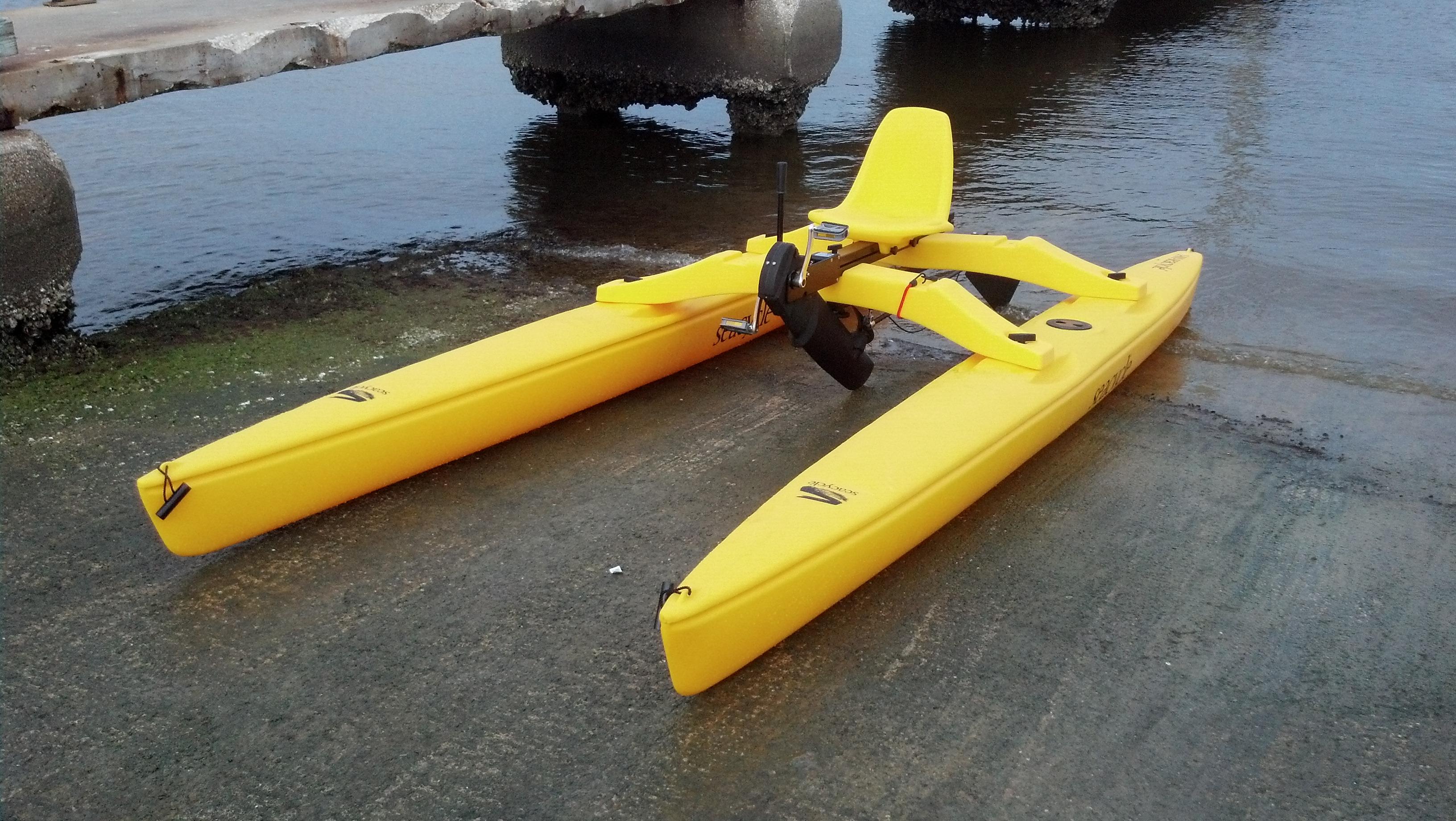 Sea Cycle Solo Pedal Pontoon Catamaran Single 1 Seat